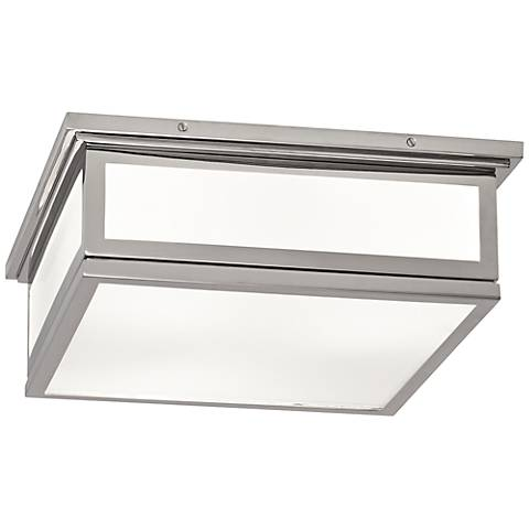 "Bradley 16"" Wide Polished Nickel Ceiling Light"