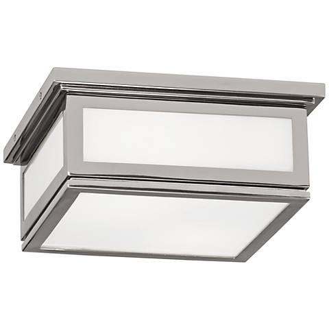 "Bradley 11 1/4"" Wide Polished Nickel Ceiling Light"