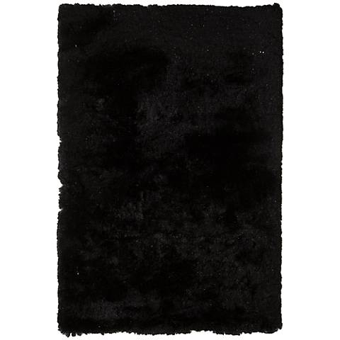 Chandra Mercury MER6901 Black Shag Area Rug