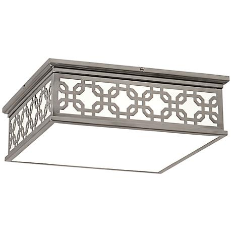 """Dickinson 15 3/4"""" Wide Antique Silver Ceiling Light"""