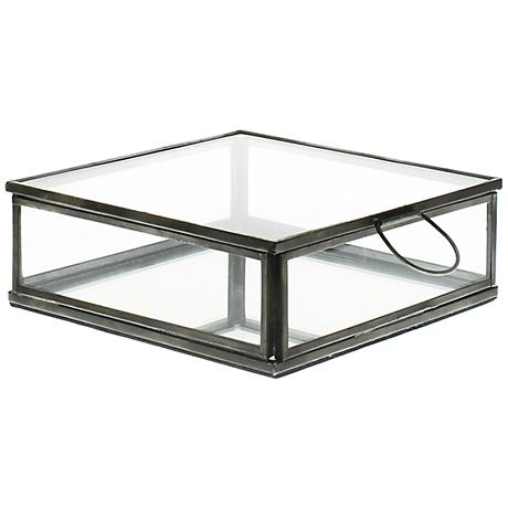 Pierre Clear Glass Box with Mirror Bottom