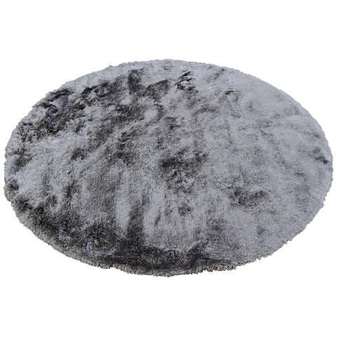 Chandra Mercury MER6904 Gray Shag Area Rug