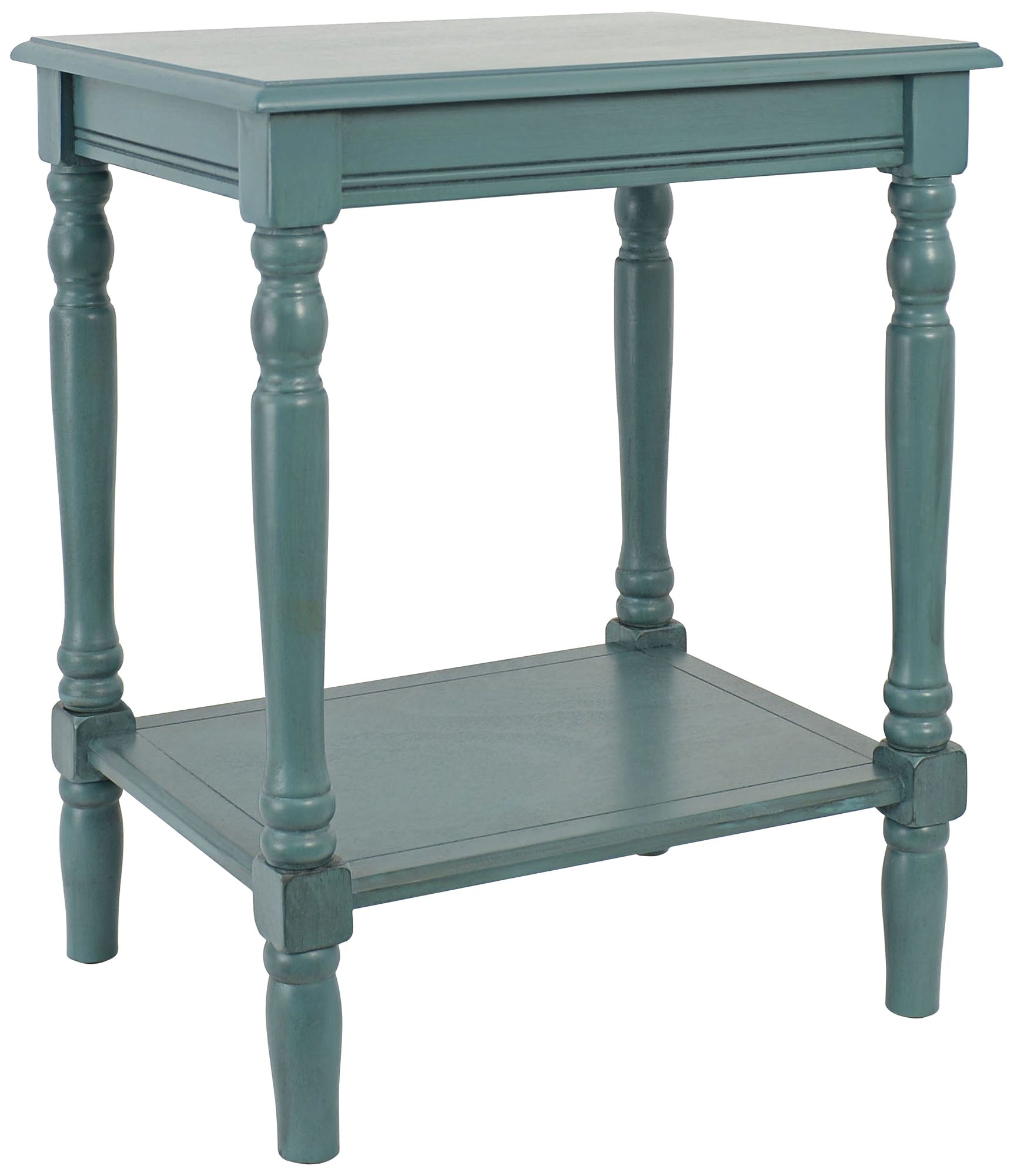 Simplify Blue End Table