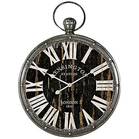 "Kensington London 17 3/4"" Round Wall Clock"