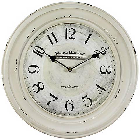 "William Marchant 15 3/4"" Round Wall Clock"