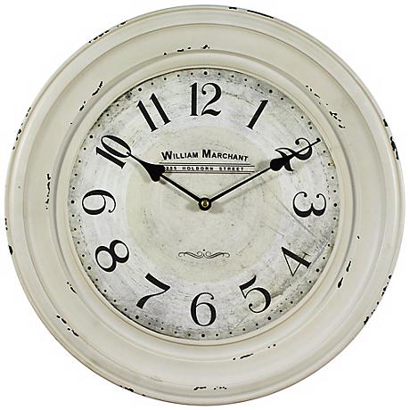"William Marchant 15 3/4"" Round Wall Clock"