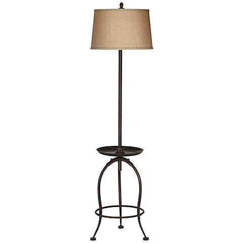 Ellerby Bronze Tray Table Floor Lamp