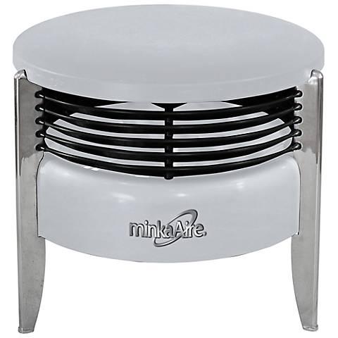 Minka Aire Hassock Silver Portable Floor Fan