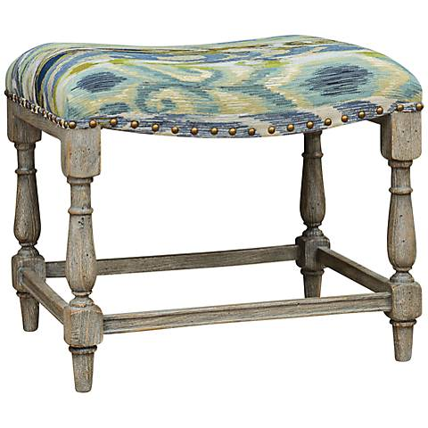 Uttermost Minkah Weathered Driftwood Carved Small Bench