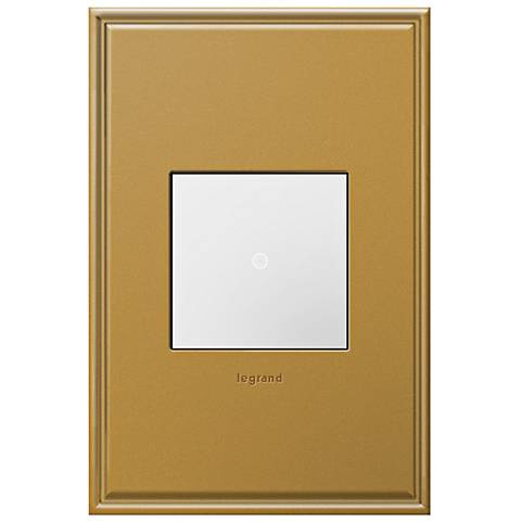adorne Antique Bronze 1-Gang+ Cast Metal Wall Plate with Switch