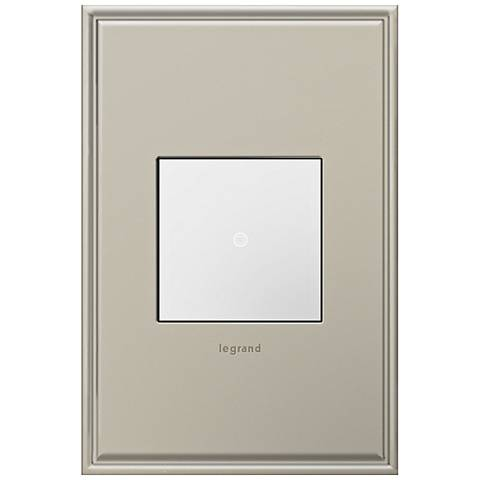 adorne Antique Nickel 1-Gang Cast Metal Wall Plate w/ Switch