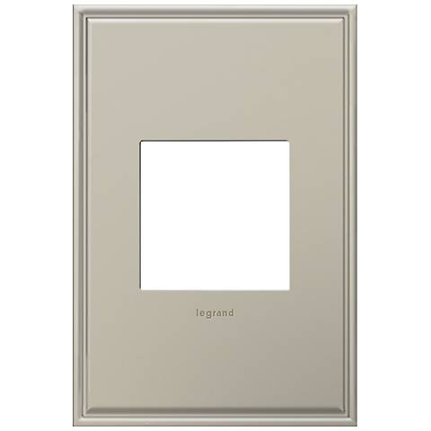 adorne® 1-Gang Cast Metal Antique Nickel Wall Plate