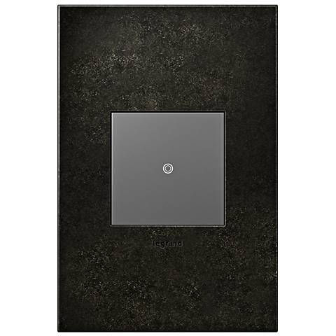 Dark Burnished Pewter 1-Gang Cast Metal Wall Plate w/ Switch