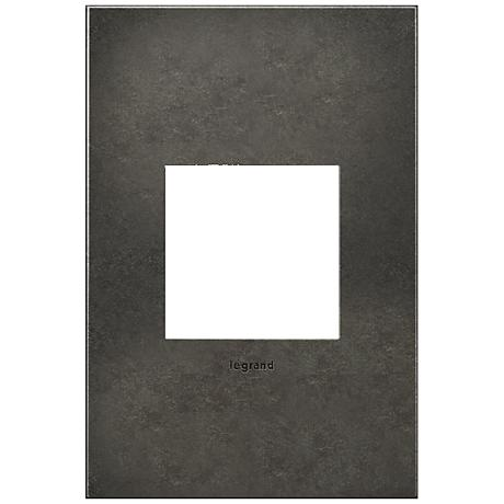 adorne® Cast Metal 1-Gang Dark Burnished Pewter Wall Plate