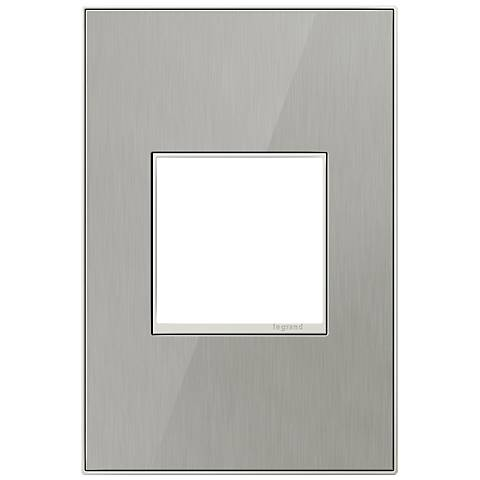 adorne® 1-Gang Brushed Stainless Mirror Wall Plate