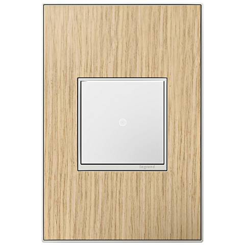 adorne French Oak 1-Gang Real Metal Wall Plate w/ Switch