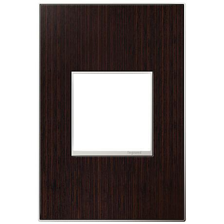 adorne® 1-Gang Wenge Wood Wall Plate