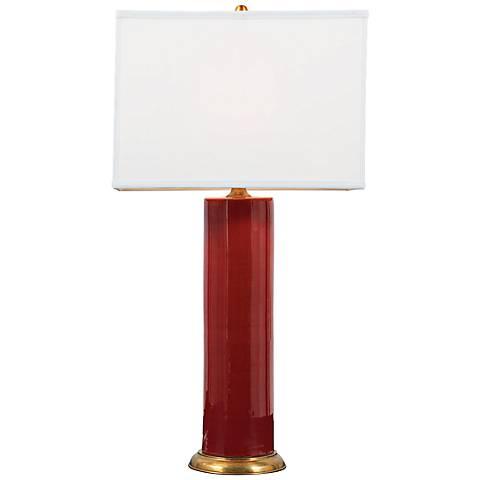 Melrose Ruby Porcelain Table Lamp