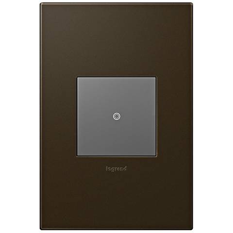 adorne Bronze 1-Gang Wall Plate with sofTap Switch
