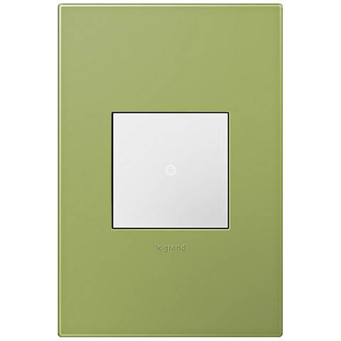 adorne Lichen Green 1-Gang Wall Plate w/ Switch