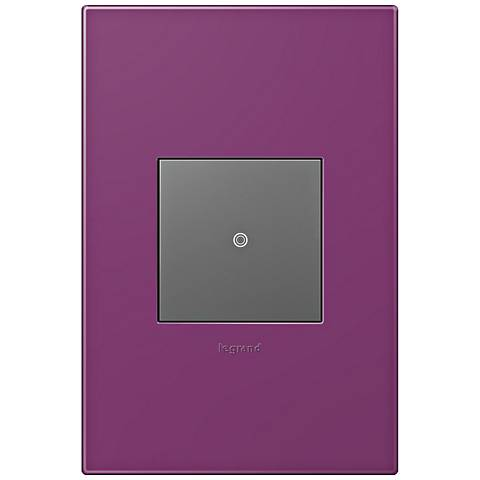 adorne Plum 1-Gang Wall Plate w/ Switch