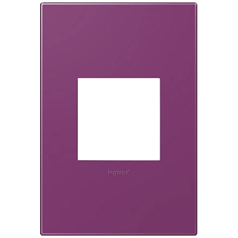 adorne® Plum 1-Gang Snap-On Wall Plate