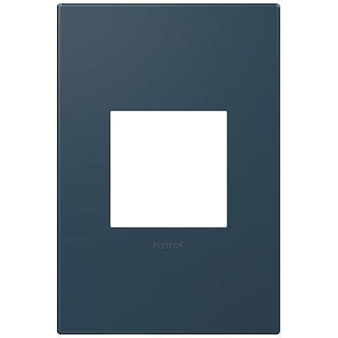adorne® Soft Touch 1-Gang Felt Green Wall Plate