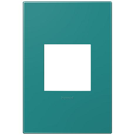 adorne® Snap-On Turquoise Blue 1-Gang Wall Plate