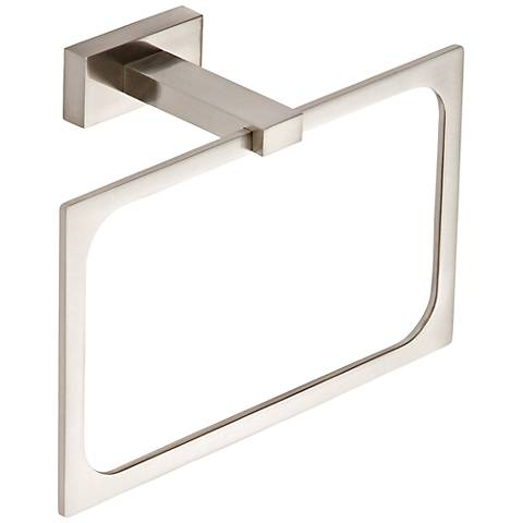 Axel Brushed Nickel Towel Ring