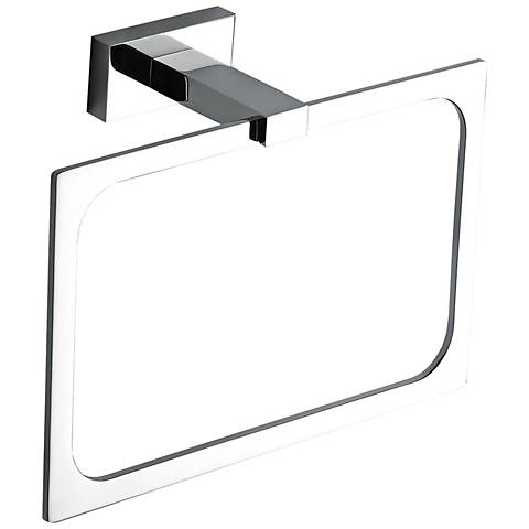 Axel Polished Chrome Towel Ring
