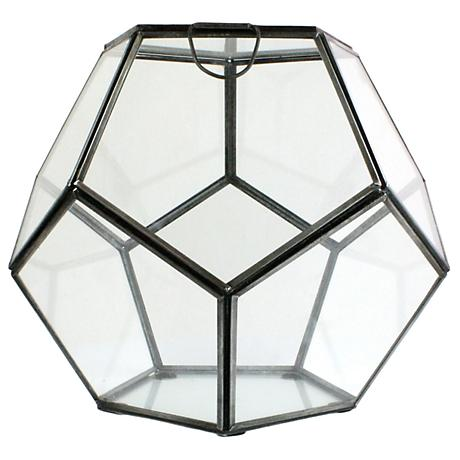 Pierre Small Clear Glass Faceted Terrarium
