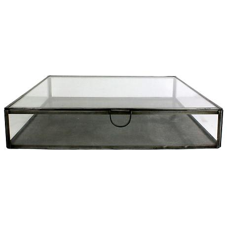 Pierre Large Square Clear Glass Case