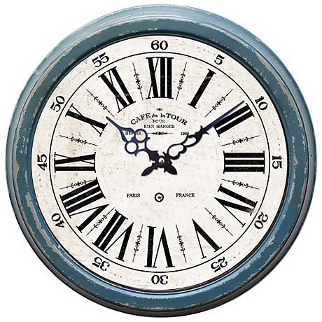 """Cafe de la Tour 16"""" Round Wall Clock"""