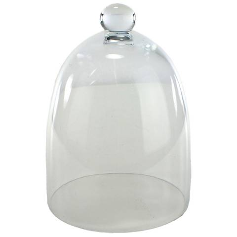 "Cadott Large Tapered Clear 7 3/4"" High Glass Dome"