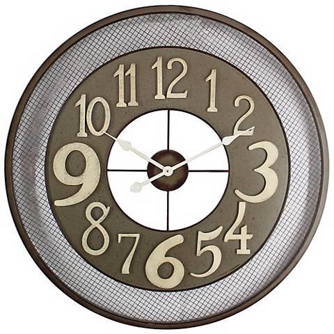 """Cheshire Dark Gray 31 1/2"""" Round Wall Clock"""
