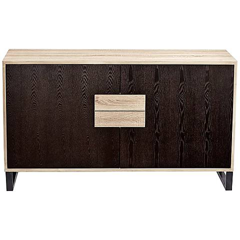 Miles Oak Two-Tone Wood Buffet Cabinet