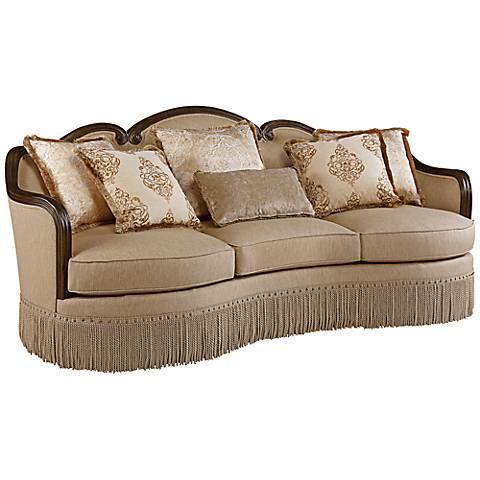 "Greenlee Golden 96 1/2"" Wide Quartz Fabric Upholstered Sofa"