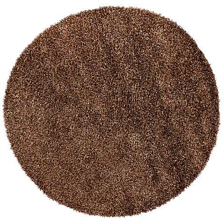 Chandra Zara ZAR14501 Brown Shag Area Rug