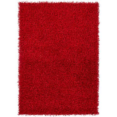 Chandra Zara ZAR14502 Red Shag Area Rug