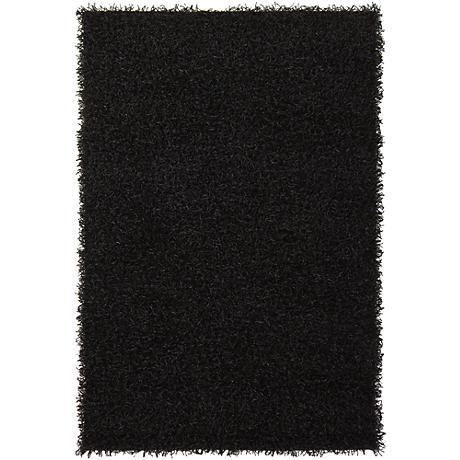 Chandra Zara ZAR14503 Black Shag Area Rug