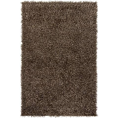 Chandra Zara ZAR14506 Gray Shag Area Rug