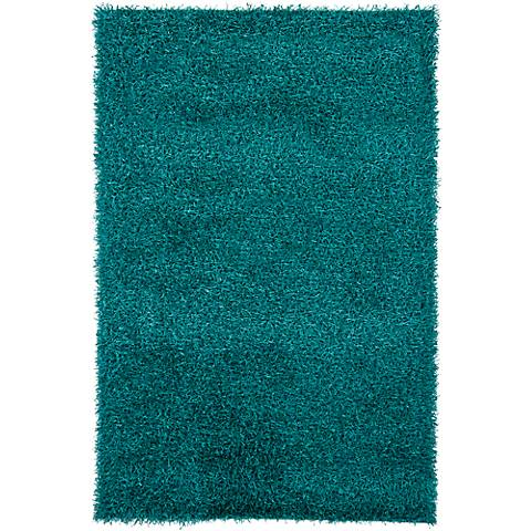 Chandra Zara ZAR14507 Blue Shag Area Rug