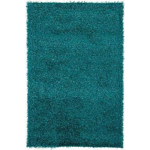Chandra Zara ZAR14507 Blue Shag Area Rug