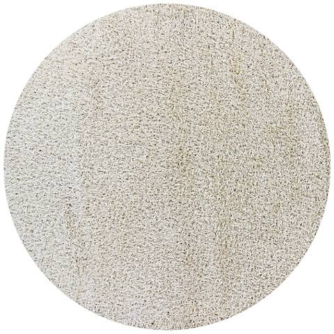 Chandra Zara ZAR14508 Ivory Shag Area Rug