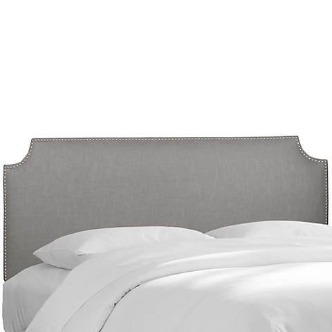 Madison Linen Gray Queen Headboard