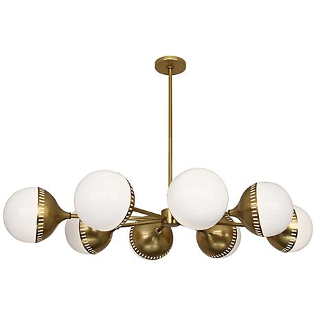 """Jonathan Adler Rio 49 3/4"""" Wide Antique Brass Chandelier"""
