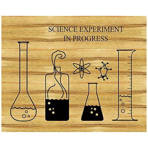 """Science Experiment Cutting Board 20"""" Wide Framed Wall Art"""
