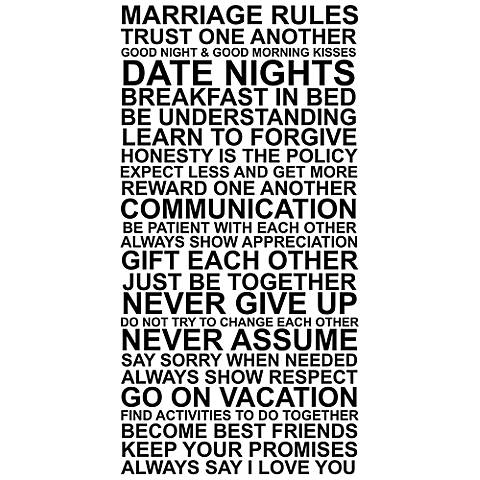 """Marriage Rules 30"""" High Framed Canvas Wall Art"""