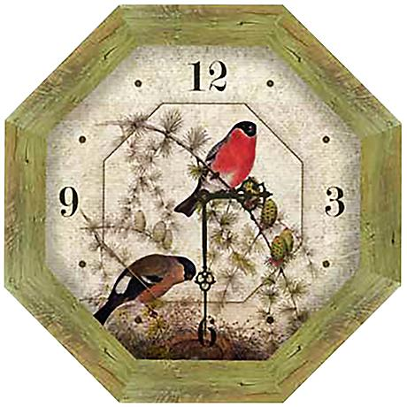 "Reclaimed Wood 15"" High Octagon Wall Clock"