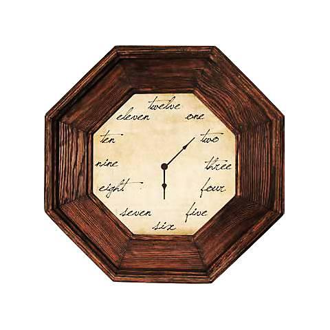 """Madison 15"""" Octagon Framed Wall Clock"""